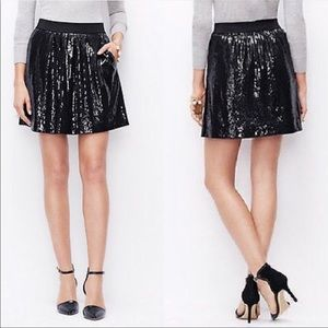 Ann Taylor | Black Sparkly  Sequin Skirt